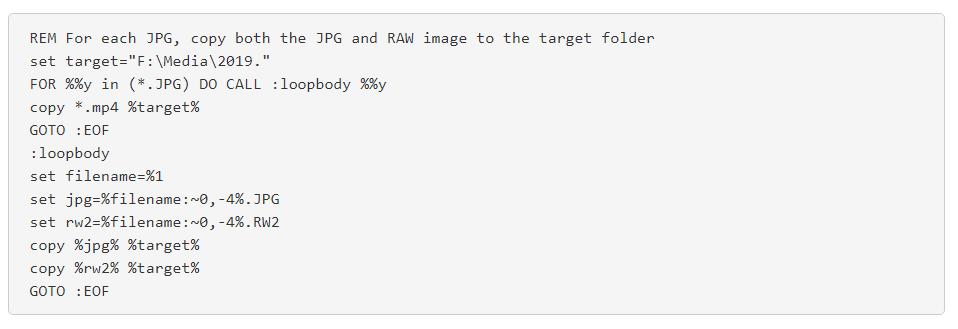 Windows Batch Script for OpenFilmmaker.com