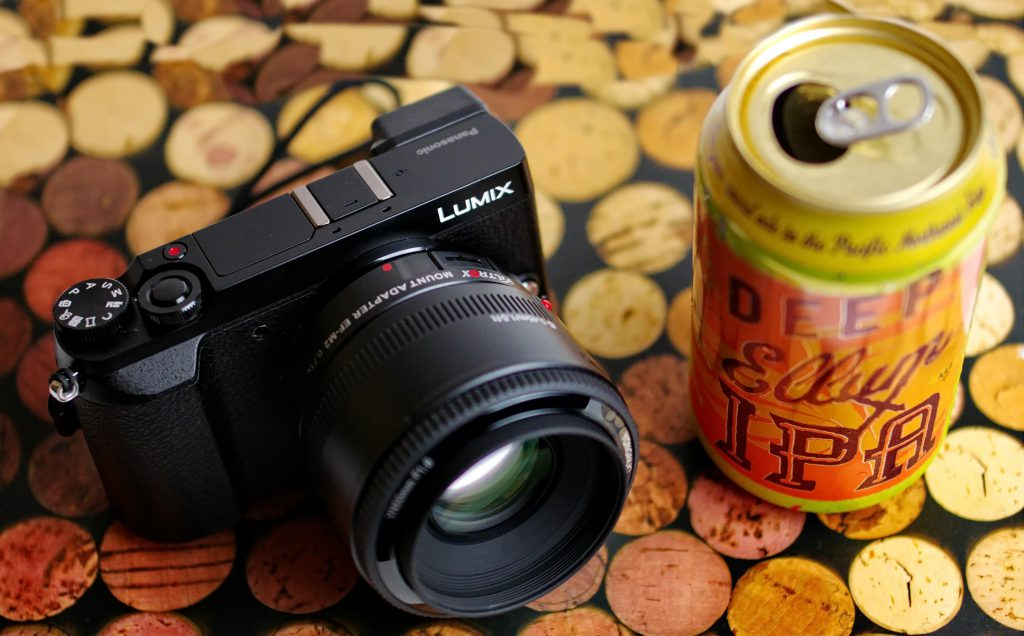 Panasonic Lumix GX85 with Viltrox EF M2 and Yongnuo 50mm f/1.8 (IPA not included)